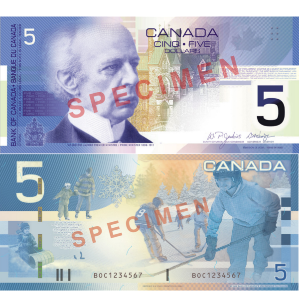 5 dollars canadiens