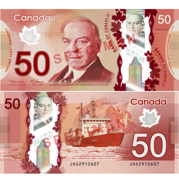 50 dollars canadiens