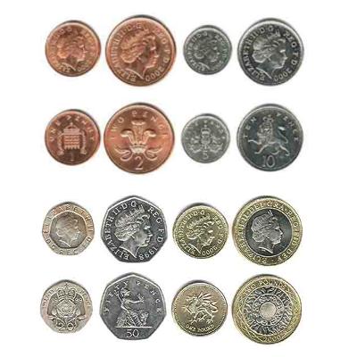 Kovanice britanske funte / engleske funte