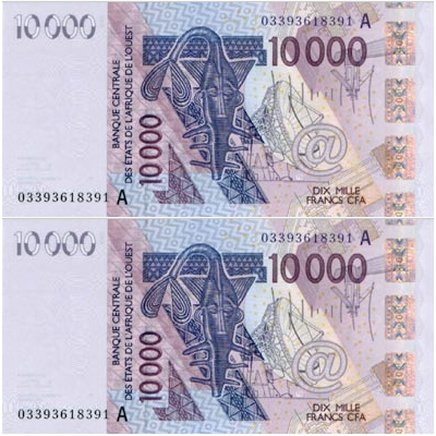 Billet de 10000 Francs CFA