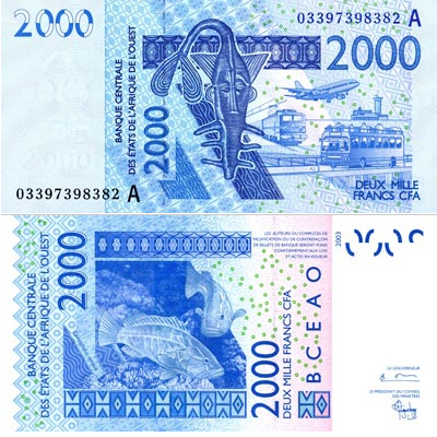 Billet de 2000 Francs CFA