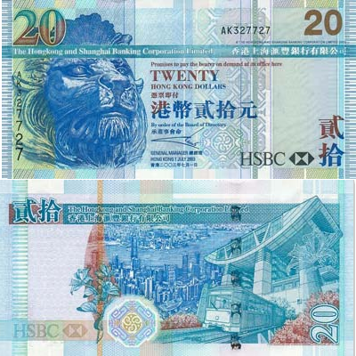 20 Dollars de Hong-Kong